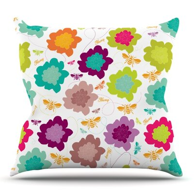Bee Highway by Nicole Ketchum Outdoor Throw Pillow