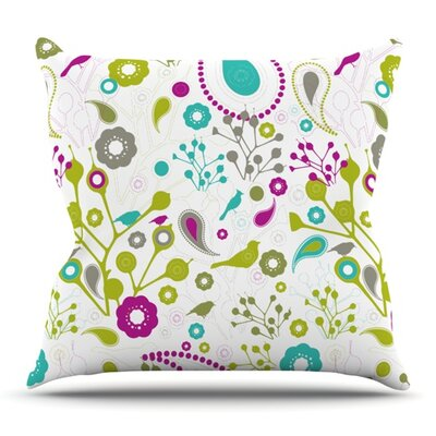 Bird Fantasy by Nicole Ketchum Outdoor Throw Pillow