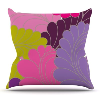 Moroccan Leaves by Nicole Ketchum Outdoor Throw Pillow