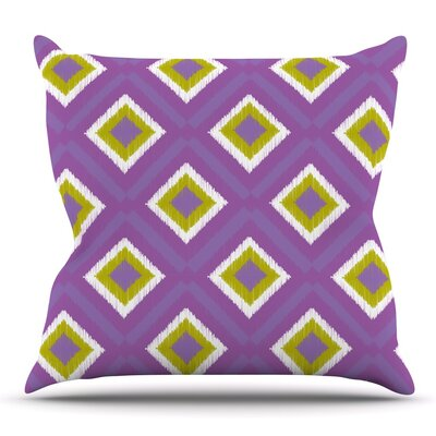 Spash Tile by Nicole Ketchum Outdoor Throw Pillow