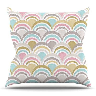 Art Deco Delight by Nicole Ketchum Outdoor Throw Pillow