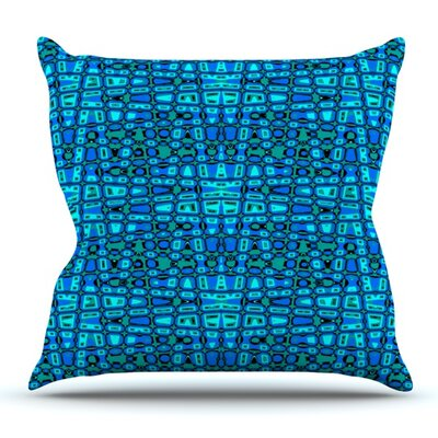 Variblue by Nina May Outdoor Throw Pillow
