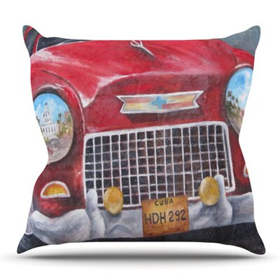 Vintage in Cuba by Rosie Brown Outdoor Throw Pillow