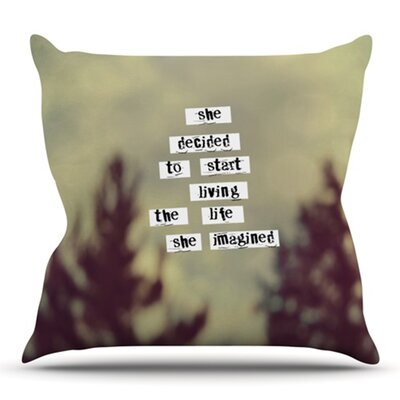 Her Life by Rachel Burbee Outdoor Throw Pillow