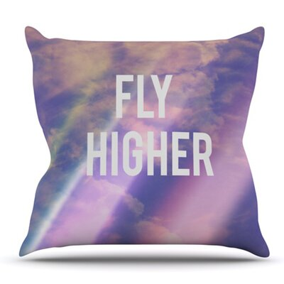 Fly Higher by Rachel Burbee Outdoor Throw Pillow
