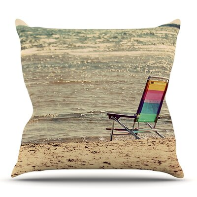 Beach Chair by Angie Turner Outdoor Throw Pillow