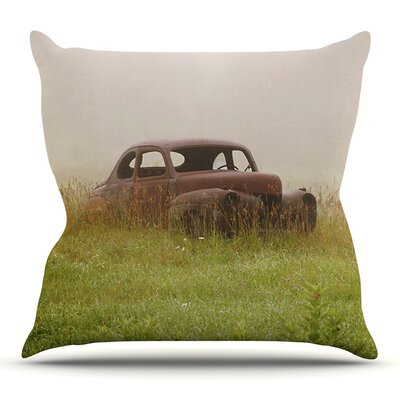 Forgotten Car by Angie Turner Outdoor Throw Pillow