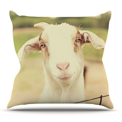Happy Goat by Angie Turner Outdoor Throw Pillow