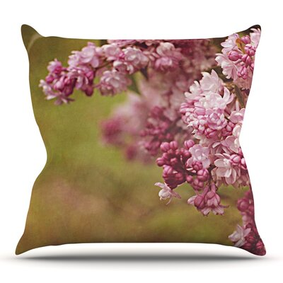 Lilacs by Angie Turner Outdoor Throw Pillow
