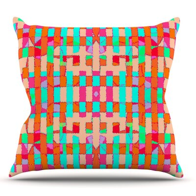 Sorbetta by Nina May Outdoor Throw Pillow