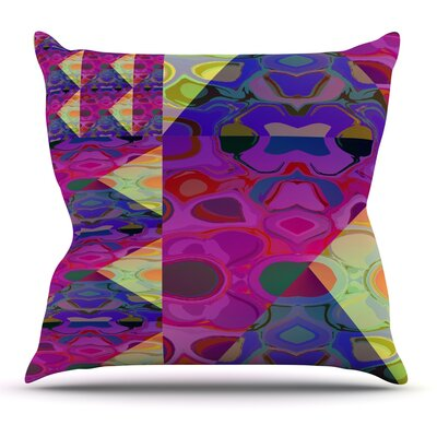 Alligator Patch by Nina May Outdoor Throw Pillow