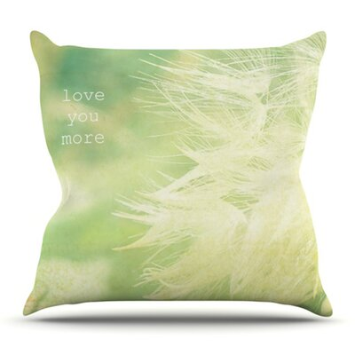 Love You More by Robin Dickinson Outdoor Throw Pillow