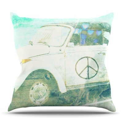 Love Bug by Robin Dickinson Outdoor Throw Pillow