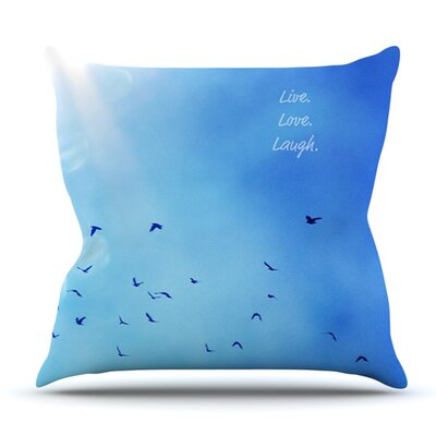 Live Love Laugh by Robin Dickinson Outdoor Throw Pillow