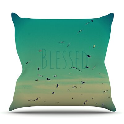 Blessed by Robin Dickinson Outdoor Throw Pillow