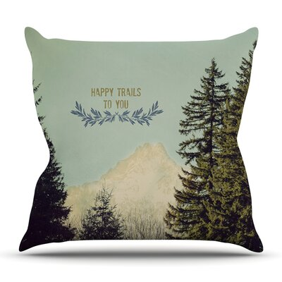 Happy Trails by Robin Dickinson Outdoor Throw Pillow