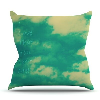 I love that you love me by Robin Dickinson Outdoor Throw Pillow