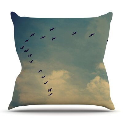 Pterodactyls by Robin Dickinson Outdoor Throw Pillow