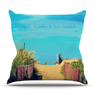 Simplify by Robin Dickinson Outdoor Throw Pillow