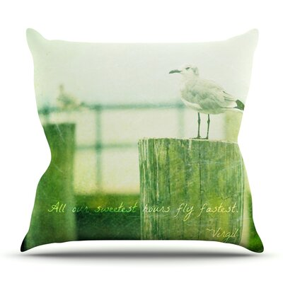 Sweetest Hours by Robin Dickinson Outdoor Throw Pillow