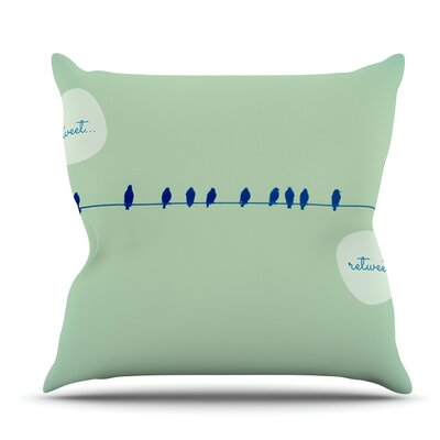 Tweeting by Robin Dickinson Outdoor Throw Pillow