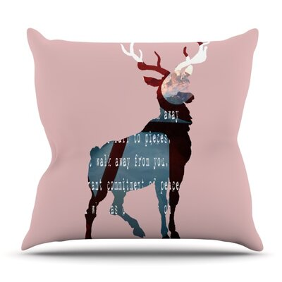 Oh Deer by Suzanne Carter Outdoor Throw Pillow