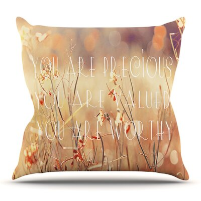 You are Precious by Suzanne Carter Outdoor Throw Pillow