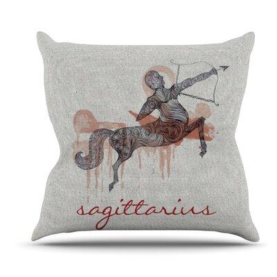 Sagittarius by Belinda Gillies Outdoor Throw Pillow