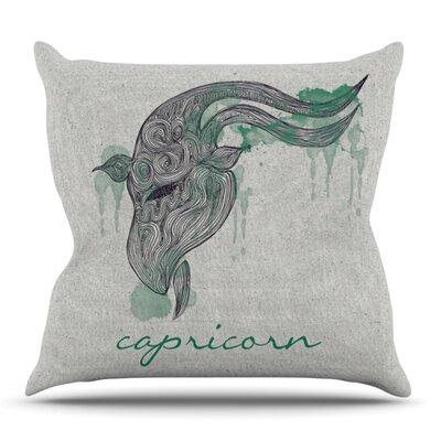 Capricorn by Belinda Gillies Outdoor Throw Pillow