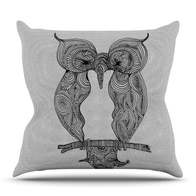 Owl by Belinda Gillies Outdoor Throw Pillow
