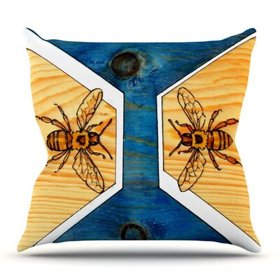 Bees by Brittany Guarino Outdoor Throw Pillow
