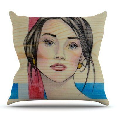 Face by Brittany Guarino Outdoor Throw Pillow