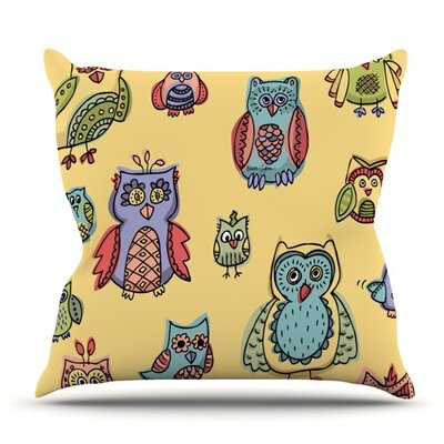 Owls by Brienne Jepkema Outdoor Throw Pillow