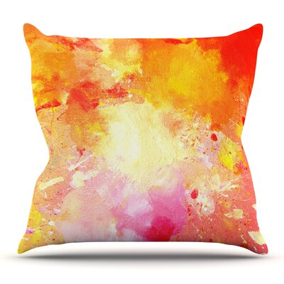 Splash by CarolLynn Tice Outdoor Throw Pillow