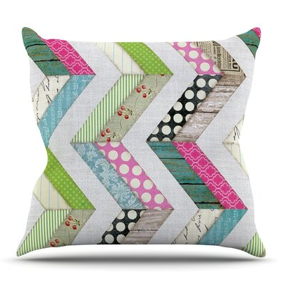 Fabric Much? by Heidi Jennings Outdoor Throw Pillow