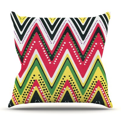 Jamaican Me Crazy by Heidi Jennings Outdoor Throw Pillow