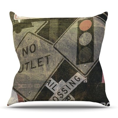 City Outing by Heidi Jennings Outdoor Throw Pillow
