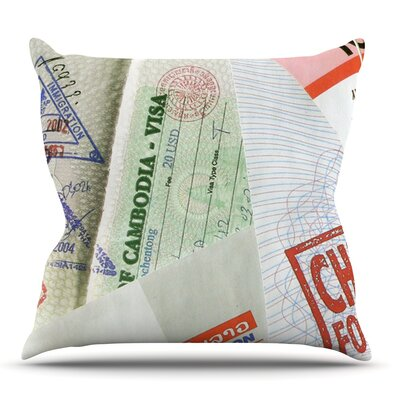 Travel The World by Heidi Jennings Outdoor Throw Pillow