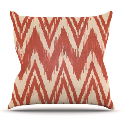 Tribal Chevron by Heidi Jennings Outdoor Throw Pillow