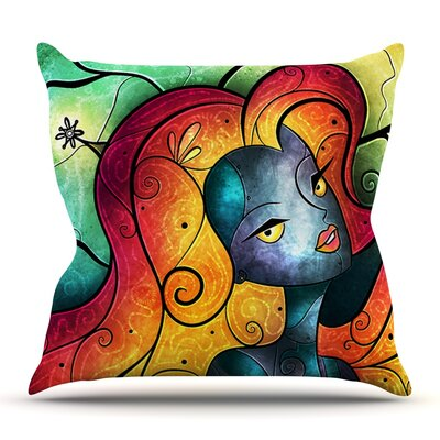Andromeda by Mandie Manzano Outdoor Throw Pillow