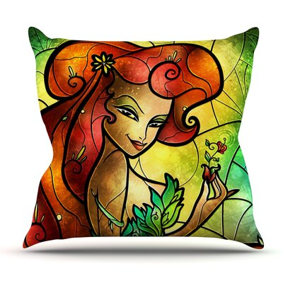 Poison Ivy by Mandie Manzano Outdoor Throw Pillow