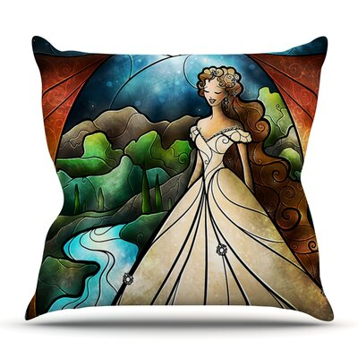 Think Of Me by Mandie Manzano Outdoor Throw Pillow