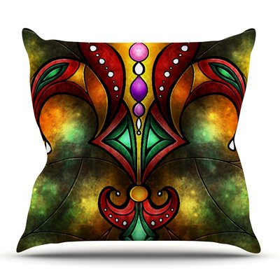 Fleur De Lis by Mandie Manzano Outdoor Throw Pillow