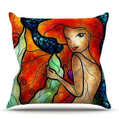 Ariel by Mandie Manzano Outdoor Throw Pillow