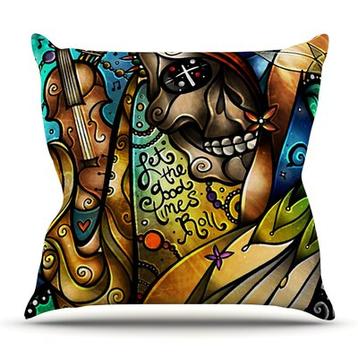 Good Times Roll by Mandie Manzano Outdoor Throw Pillow