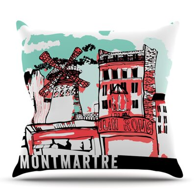Montmartre by Theresa Giolzetti Outdoor Throw Pillow