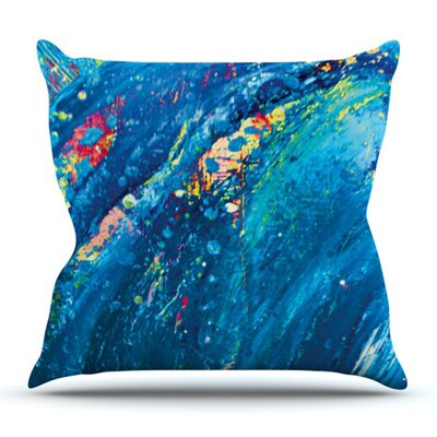Big Wave by Theresa Giolzetti Outdoor Throw Pillow