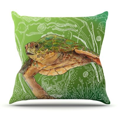 Shelley Sea by Catherine Holcombe Outdoor Throw Pillow