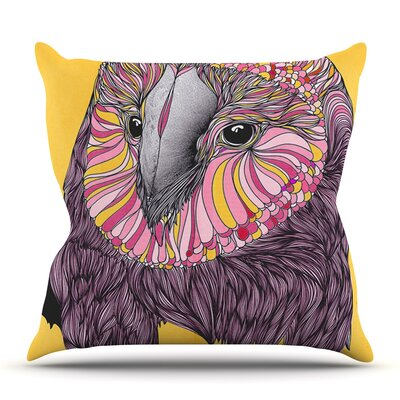 Lovely Owl by Danny Ivan Outdoor Throw Pillow