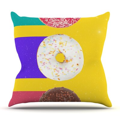 Donuts by Danny Ivan Outdoor Throw Pillow